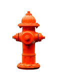 Fire hydrant isolated with path. Orange fire hydrant isolated with clipping path at this size Royalty Free Stock Image