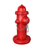 Fire Hydrant. Isolated on white background. 3D render Stock Images