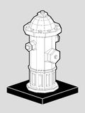 Fire hydrant isometric 3d royalty free stock photography