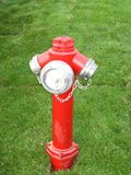 fire-hydrant-on-lawn Stock Image
