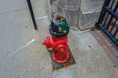 Fire hydrant, Montreal. Red fire hydrant in old port, Montreal, Canada Royalty Free Stock Photos