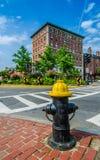 Fire hydrant near the road Stock Photo