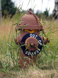 Fire Hydrant out of service. An old hydrant on a military post Stock Photo