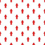 Fire hydrant pattern, cartoon style Royalty Free Stock Photos