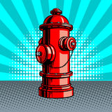Fire hydrant pop art style vector illustration Royalty Free Stock Photos
