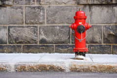 Fire Hydrant Quebec City. Typical red fire hydrant from Quebec city Stock Images