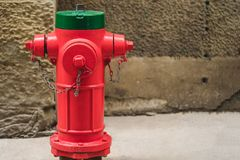 Fire hydrant. red fire pump royalty free stock photo