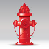 Fire hydrant. Red fireplug on the street. Vector illustration Royalty Free Stock Photo