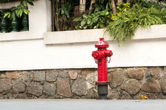 Fire hydrant. On the road Stock Photography