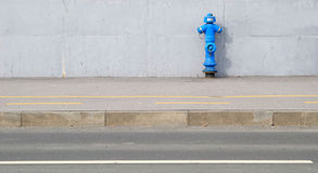 Fire hydrant on sidewalk Stock Images