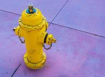 Fire hydrant on sidewalk Stock Image