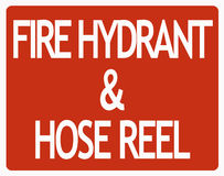 Fire hydrant sign Royalty Free Stock Photos