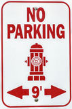 Fire Hydrant Sign. No parking. Fire hydrant sign Stock Image