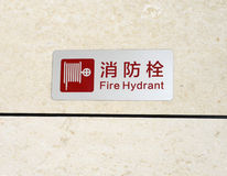 Fire hydrant sign Royalty Free Stock Images