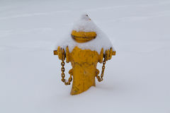 Fire Hydrant in the Snow Royalty Free Stock Image