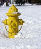 Fire Hydrant in Snow Royalty Free Stock Images