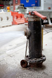 Fire Hydrant Spraying Water Royalty Free Stock Photo