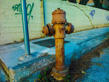 Fire hydrant. In a street of Corfu in Greece Royalty Free Stock Photos