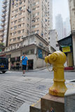 Fire hydrant on the street in Hong Kong Royalty Free Stock Photo