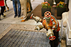 Fire hydrant on the street in New York Stock Photography