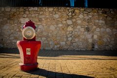 Fire brigade water hydrant royalty free stock photo
