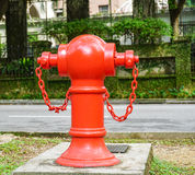 Fire hydrant on street in Singapore Royalty Free Stock Images