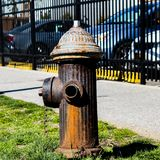 Fire hydrant. Such a basic fire hydrant brown no water Stock Photography