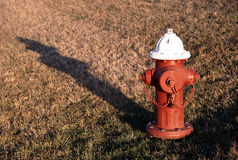 Fire Hydrant in Sun. Fire Hydrant late in the afternoon Royalty Free Stock Image