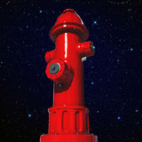Fire hydrant. Under the stars Royalty Free Stock Photo