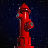 Fire hydrant. Under the stars Royalty Free Stock Photos