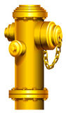 A fire hydrant. On a white background Royalty Free Stock Image