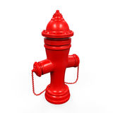 Fire Hydrant. On white background. 3d render Royalty Free Stock Photo