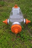 Fire Hydrants. Known as NFPA 291, it says fire hydrants using public water supply systems should be painted chrome yellow and their tops and caps should indicate Stock Photography