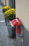 Fire hydrants. Near the building in Berlin Stock Photography