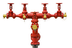 Fire hydrants outside building. Royalty Free Stock Photo