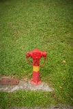 Fire hydrants outside building on public road, Outdoor. Stock Image