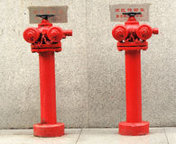Fire hydrants for skyscrapers Stock Photography
