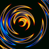 Fire and ice. A swirl of blues, reds, gray and oranges Stock Photo