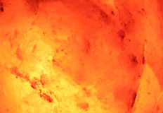 Fire And Ice. A macro of a glowing himalayan rock salt lantern royalty free stock image