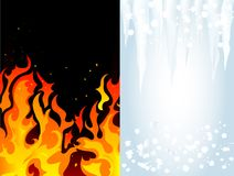 Fire and ice Stock Photos
