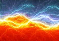 Fire and ice abstract lightning. Background Royalty Free Stock Photography