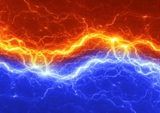 Fire and ice abstract lightning. Background Stock Photography