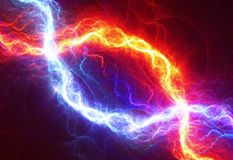 Fire and ice abstract lightning background. Fire and ice  lightning background, abstract electrical background Royalty Free Stock Photo