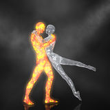 The Fire and Ice Ballet - 02 Stock Photography
