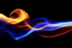 Fire & ice design. On black royalty free stock photo