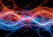 Fire and ice electrical discharge. Abstract plasma background Stock Photography