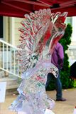 Fire and Ice Festival Eagle Sculpture in Qualicum Beach, BC Stock Photography