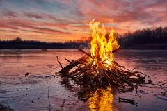 Fire And Ice Royalty Free Stock Photo