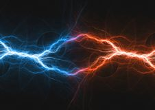 Fire and ice fractal lightning. Plasma power background Royalty Free Stock Photo