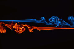 Fire and ice. Fusion background stock images